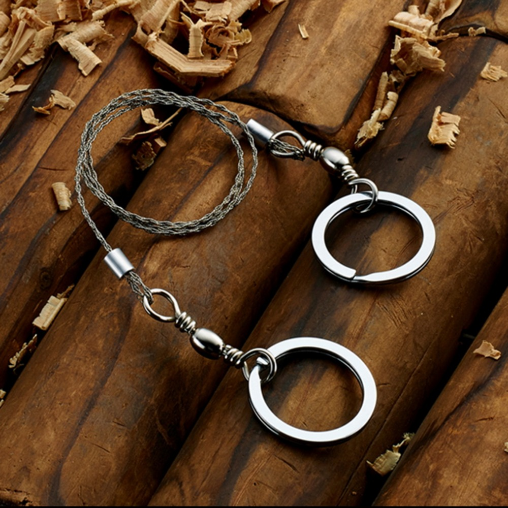 1 pcs Stainless Steel Wire Saw Outdoor Survival Self Defense Camping ...