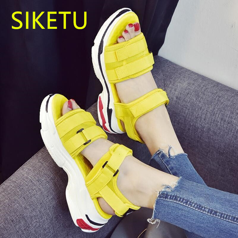 SIKETU Free shipping Summer sandals Fashion casual shoes sex women shoes flip flop Flat shoes Flats l135 NEW flip flop outdoor women shoes 2018 summer breathable fashion lady s casual shoes lace up girls handmade women woven shoes flip flop footwear 599w