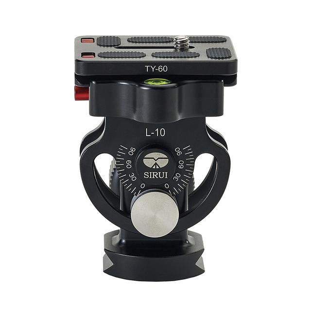 SIRUI L-10 Profissional Cabeça do Tripé de Alumínio de 360 Graus Cabeça do Lapso de Tempo Universal Para Câmera Digital Tripé Monopé Bola Cabeça 2D