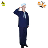 Blue Sailor Costume Men's Career of Sailor Role Play Fancy Dress For Adult Halloween Carnival Party Outfits
