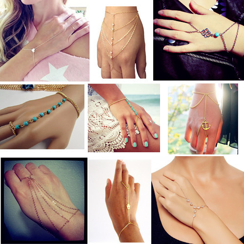 Gold Silver Plated Slave Hand Finger Bracelets Bangles for Women Fashion Charms Harness Pulseiras Mujer Bijoux