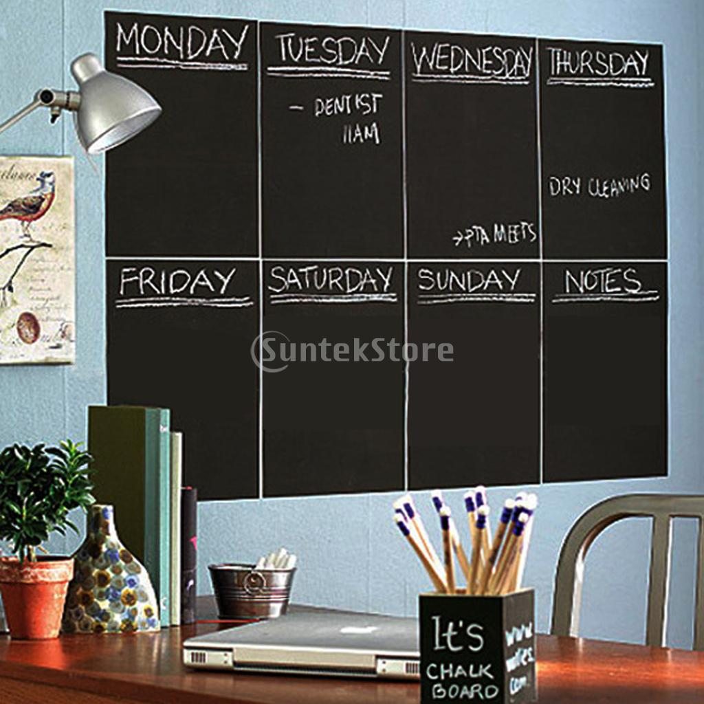 New Arrivals 2015 8x A4 Blank Chalkboard Wall Sticker Removable Blackboard  Decal Home Decor Free Shipping In Wall Stickers From Home U0026 Garden On ...