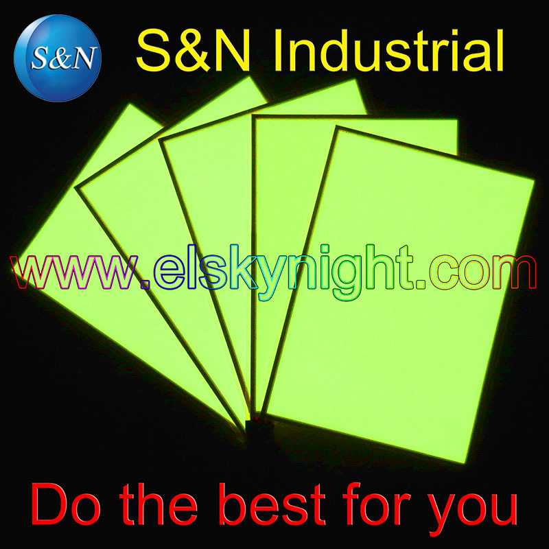 A5 Size (15.25X21.5CM)el Sheet El Panel El Back Light Lemon+ DC12V Controller On/flash/off  Free Shipping