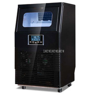 WZB 40F/A 200 Вт автоматический Электрический квадратный форма льда портативный блок кубик машина для бара кофе магазин 40 кг/24 ч