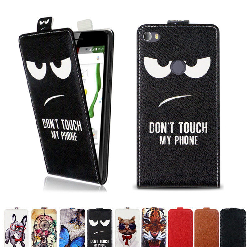 Flip vertical cover bag up and down PU Leather Case for Alcatel Idol 5S 6060X  case cover