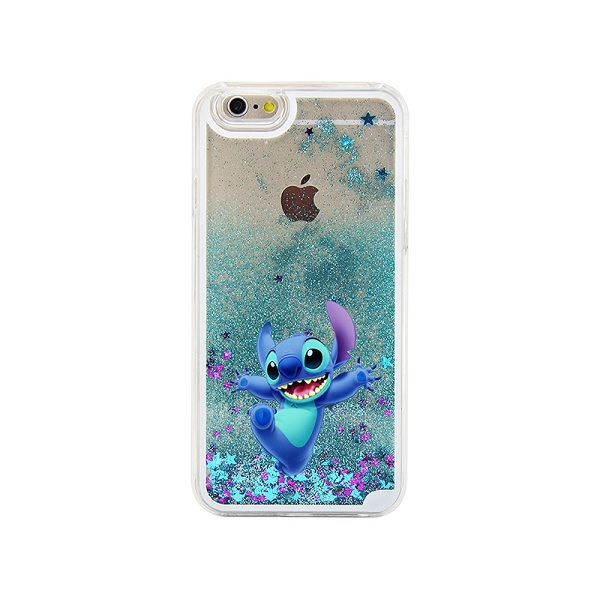 finest selection 68d61 2f9d1 US $4.09 |For iphone 6 case Stitch Lovely Blue Glitter Liquid quicksand  Painted Case For iPhone 4 4S 5 5S 5C SE 6 6S 6PLUS 6S PLUS 7 7Plus on ...