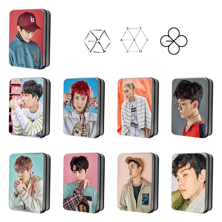 [MYKPOP]EXO EX'ACT ALBUM Monster Lucky One SUHO BAEKHYUN CHANYEOL SEHUN Photo Card Paper Cards HD Polaroid Photocard SA18040411 signed exo sehun autographed photo the war 4 6 inches freeshipping 072017