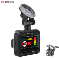 Ruccess Car Radar Detecotr DVR GPS 3 In 1 Car Camera Russian Anti Radar Laser Video