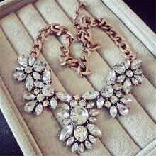 Lemon Value Femme Collier Statement Choker Vintage Crystal Collar Charms Rhinestone Pendants Necklaces Maxi Women Jewelry ZA180