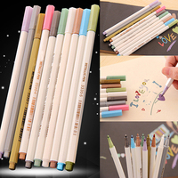 High Quality Useful Metallic Color Marker Pen for Card Making DIY Photo Album Office & School Supplies