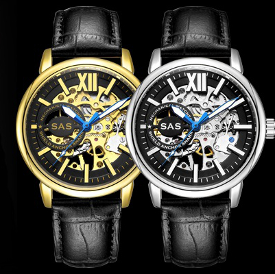 Men Skeleton Automatic Mechanical Watch Gold Skeleton Man's Watch Mens Watches Top Brand Luxury Male Clock Erkek Kol Saati Reloj купить недорого в Москве