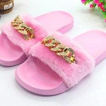 AoXunLong Fashion New Shiny Diamond Slipper Women Furry Home Slipper Flat  Shoes Women Leopard Pink Eu 98dc0513f6c9