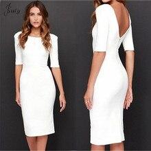 2019 Women Sexy Dress Fashion  Round neck Vestidos Big Size Clothing White Black Dresses halter dress JULY