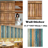 3D Wall Sticke 10 Meters Brick Wood Rustic Effect Self adhesive Wall Sticker Hom wall stickers home decor living room