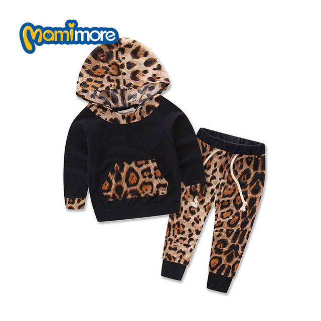 2 Pcs Flowers Hooded Girls Clothes Cotton Boys Clothing Set 2017 New Arrivals Fashion Kids Clothes Toddler Girl Clothing