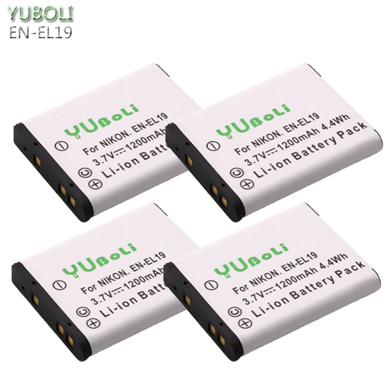 4x EN EL19 ENEL19 EN EL19 Battery for Nikon Coolpix S32