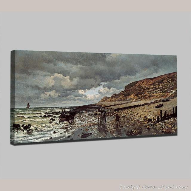 Dipinto a mano Monet e il mare di Paesaggi Marini Riproduzione Della ...