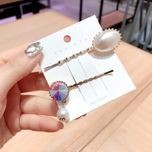 Korea Hair Accessories Flower Diamond Big Pearl Clips For Girls Crystal  Bows Hairpins Barrette