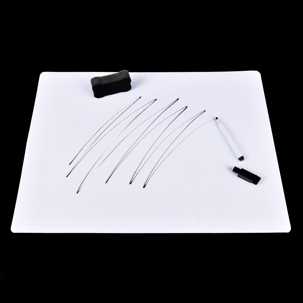 30x21cm Flexible Magnetic Fridge WritingBoard Removable Whiteboard Message Board Pad Reminder Board Pen Eraser Magnet