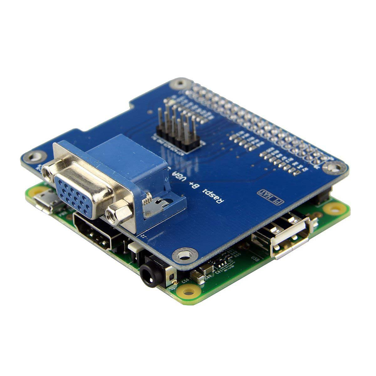 VGA Shield V2.0 Expansion Board For Raspberry Pi 3B/2B /B+/A+ Extend a VGA interface via GPIO and remain HDMI