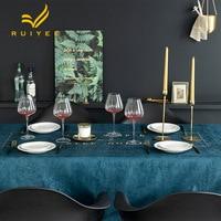 RUIYEE brand simple printed table cloth Nordic tablecloth table cloth chenille desk cloth round table cloth