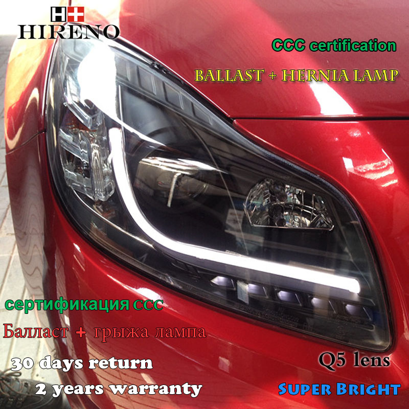 Hireno Headlamp for 2009-2013 Buick Regal Opel Insignia Headlight Assembly LED DRL Angel Lens Double Beam HID Xenon 2pcs hireno car styling headlamp for 2007 2011 honda crv cr v headlight assembly led drl angel lens double beam hid xenon 2pcs