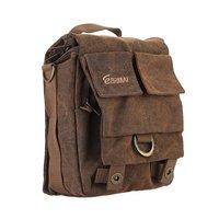 Eirmai SS05(S) Small Size Single video camera Shoulder Bag Handbag Leisure Canvas Camera Messenger Bag Coffee Color