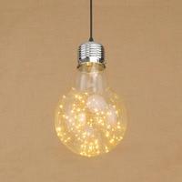 Oświetlenie wakacje Loft klosz szklany powiesić lampa wisząca LED nabłyszczania lampy wiszące oprawy oświetleniowe dla restauracja salon przedpokój w Wiszące lampki od Lampy i oświetlenie na