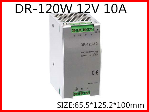 DR-120-12 Din Rail Switching power supply 120W 12VDC 10A Output 120w 12v din rail single output switching power supply dr 120 12