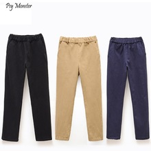 Children's Elastic Khaki Black Trousers Primary School Boys Performance Clothes Big Kids Navy Blue Pants