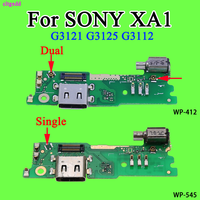 For SONY Xperia XA1 Charging Port USB Charger Dock Connector Vibrator Microphone Mic Circuit Board Flex Cable G3121 G3125 G3112