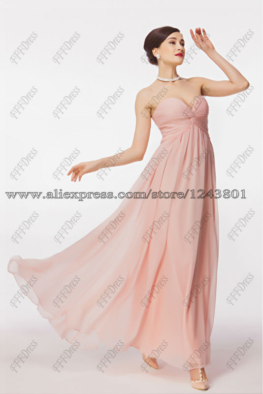 Aliexpress.com : Buy Empire Waist Pink Maternity Bridesmaid Dress ...