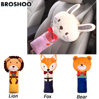 BROSHOO Lovely PP Cotton Cartoon Children Car Seat Belt Cover Shoulder Pads Child Auto Pillow Padding