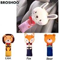 BROSHOO Lovely PP Cotton Cartoon Children Car Seat Belt Cover Shoulder Pads Child Auto Pillow Padding