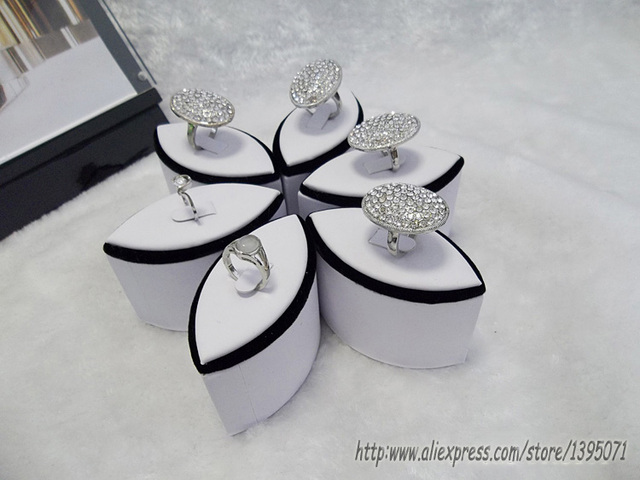 High Qulaity 6pcsset Ring Display Stand Flower Ring Holder Jewelry