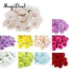 Buy bulk artificial flowers and get free shipping on aliexpress magideal 50pcslot artificial silk fake rose flower heads bulk handmade diy wedding party home mightylinksfo