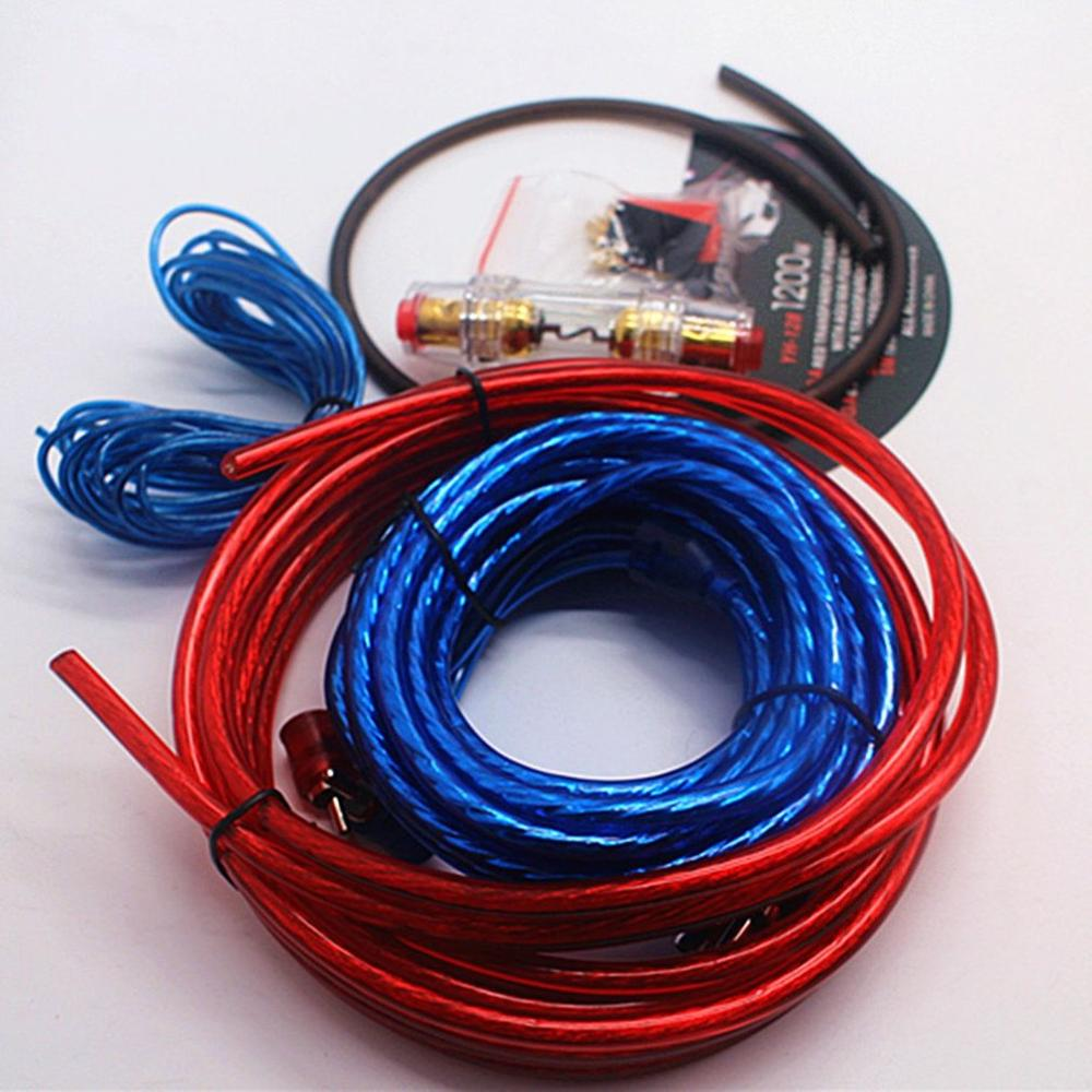 8 Gauge Amplifier Installation Kit Power Wiring Cable Amp Speaker Wire Subwoofer