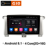 Android 8.1 Car dvd Video Multimedia player for Toyota Land cruiser 100 2005 2006 2007 Vehicle GPS Navigation Radio Headunit DVR