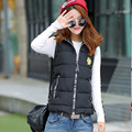 Gilet Turn-down Collar Women Vest 2016 Polyester Short Solid Appliques New Fashion Feather Ladies Dress Factory Direct Supply