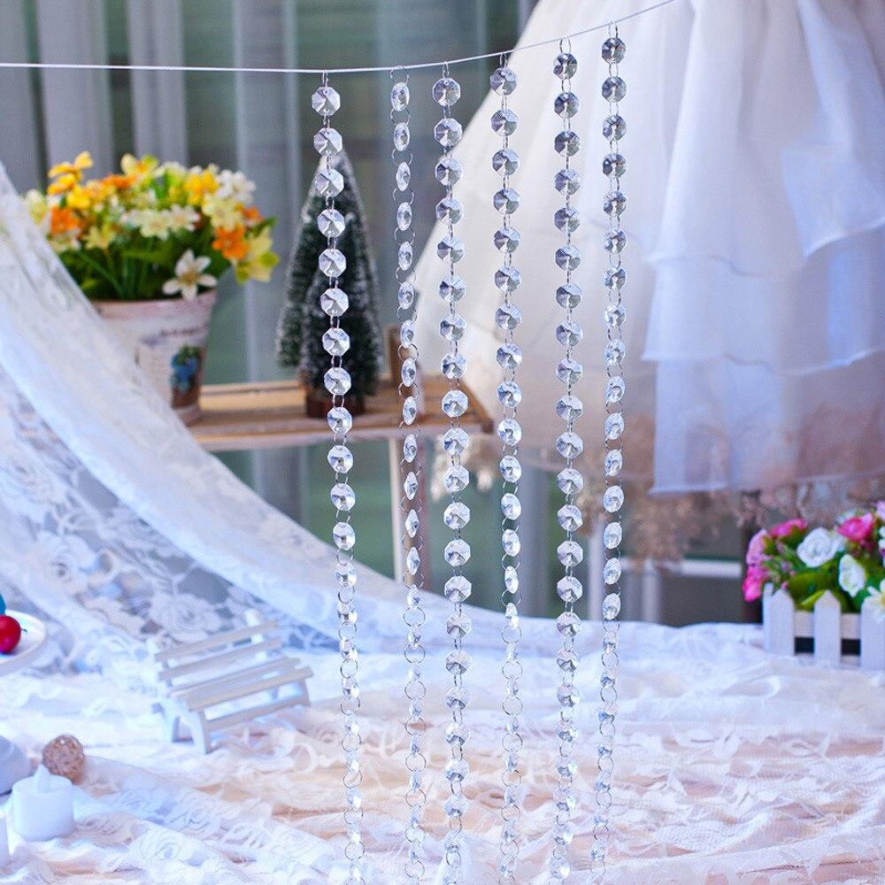Bead curtain crystal partition curtain finished product crystal bead - Newest Curtains 1 M Diy Wedding Decor Diamond Curtain Acrylic Crystal Beaded Curtain Home Decor C7731