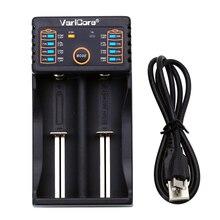 VariCore V20i 18650 Ladegerät 1,2 V 3,7 V AA/AAA Lade 18650 26650 10440 14500 16340 NiMH Lithium Batterie ladegerät