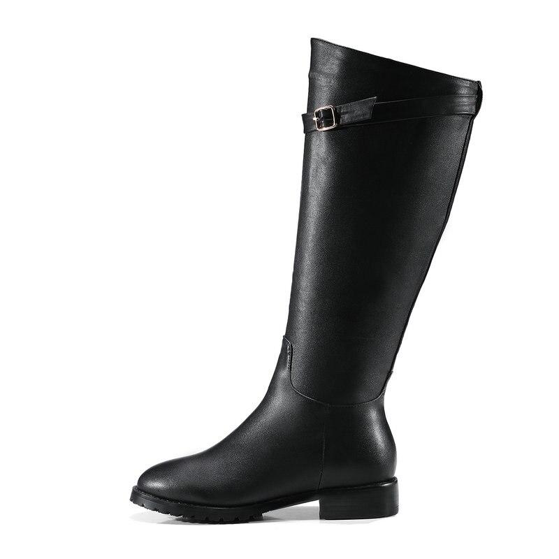Bottes Plat En Du Femmes À Hauteur Noir Martin D'hiver Femme Western Aiweiyi Courtes Peluche Chaussures Black wine Pour Style Chaud Genou VpUSzM