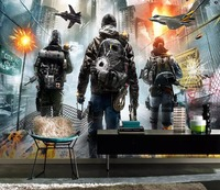 [Self Adhesive] 3D Airplane City Flame War Movie 22 Wall Paper mural Wall Print Decal Wall Murals