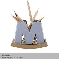 Patent design, heißer verkauf aluminiumlegierung stifthalter Büro desktop boxen W/M zwei arten können sein wählen