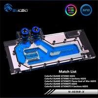 Bykski Full Coverage GPU Water Block For Colorful GTX980TI GTX980 GTX780TI Graphics Card N IG98 X