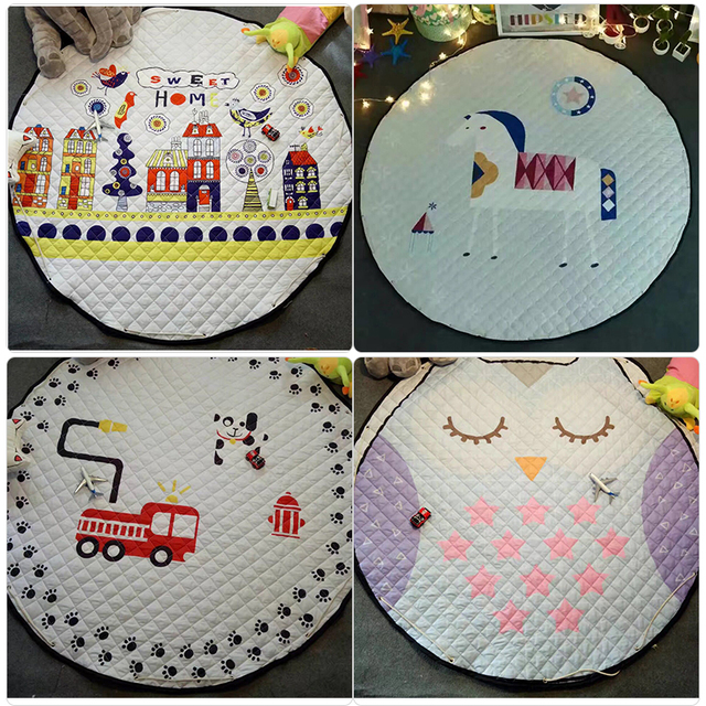2018 New Kids Carpet Rugs Children Play Mat Crawling Puzzle Mat with Storage Bag Carpet for kids Room With Storage Play Mat