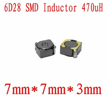 NEW SMD Inductors 6D28 470UH 471 Chip inductor 7*7*3mm Shielding Power inductance 1000 PCS