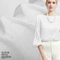 Tecido de algodão de seda jacquard branco 18mm