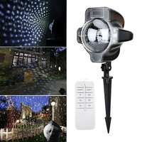 Christmas Light LED Snowflake Projector Lights Garden Lawn Lighting Waterproof Landscape Snow Laser Projector Decoration Lamp