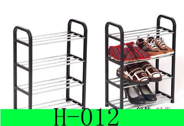 2013 Free shipping New arrival Chepaer Metal/plastic Fashion Four levels of shoe rack for Home/Hotel (45*19*58) size H-012